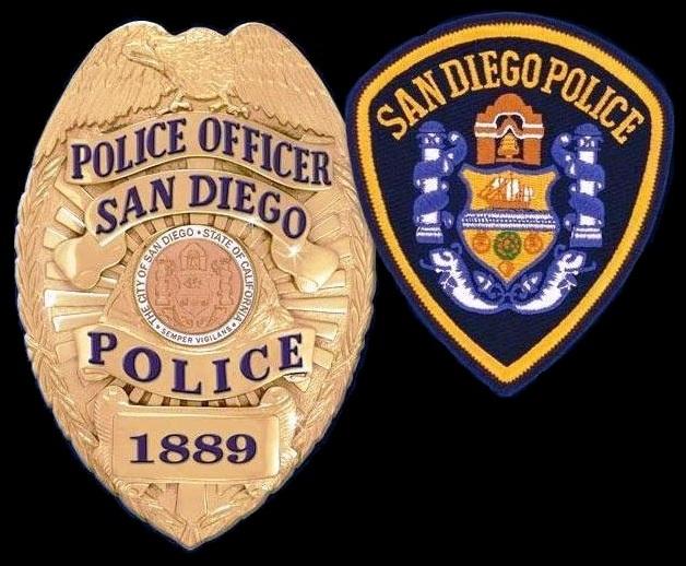 badge polizia san diego